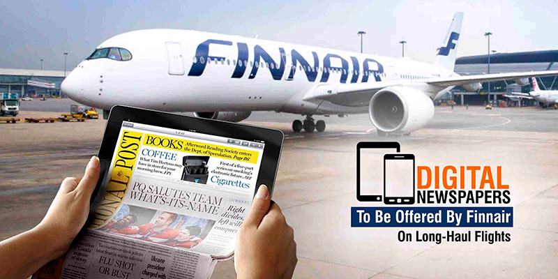 Digital Newspapers To Be Offered By Finnair On Long-Haul Flights