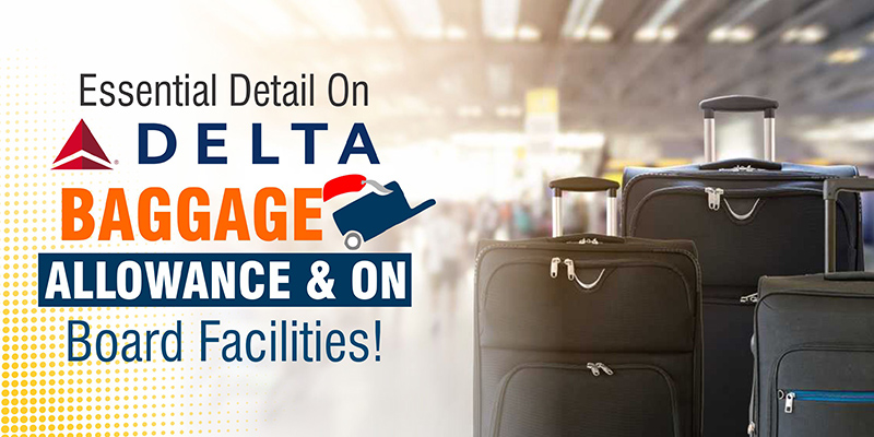 Essential Detail On Delta Baggage Allowance & On Board Facilities!