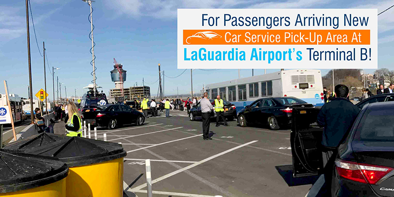 For Passengers Arriving New Car Service Pick Up Area At Laguardia