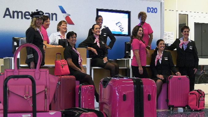 American Airlines Goes Pick In October For Breast Cancer