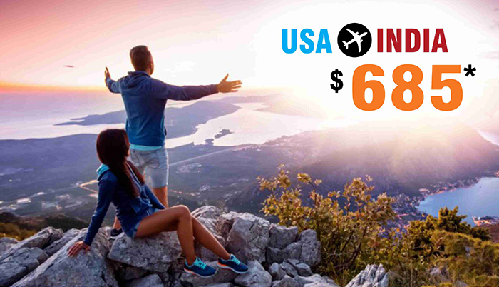 MARCH-APRIL TRAVEL OFFERS : USA TO INDIA ROUND TRIP FLIGHT